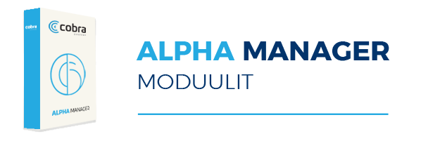 Alpha Manager moduulit